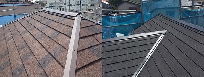 屋根カバー工法・葺き替えイメージ