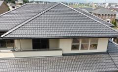 平板瓦 葺き直し工事(寄せ棟屋根)