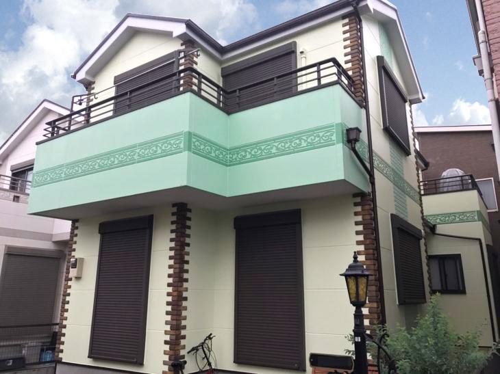 越谷市A様邸外壁屋根塗装工事