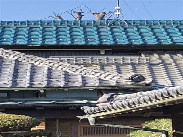 銅雨樋補修及び交換と棟漆喰増し打ち